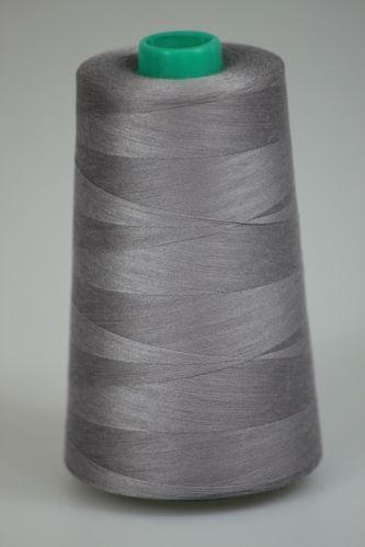 Niť KORALLI polyesterová 120, 5000Y, odtieň 4125, šedá