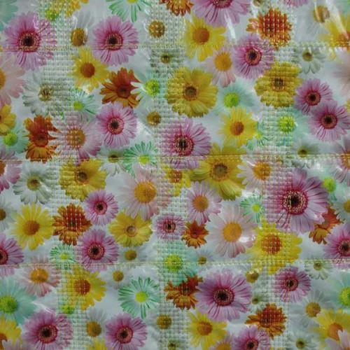Prešiv foto, farebné kvety, š.140