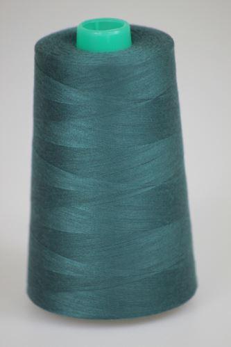 Nit KORALLI polyesterová 120, 5000Y, odstín 6595, zelená