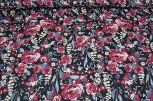 Šatovka černá, růžový květ š.145