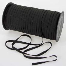 Guma prádlová čierna jemná, šírka 6mm