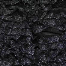 Úplet volánkový černý, š.145