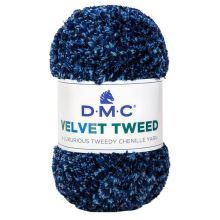 Priadza VELVET TWEED 100g, modrý melír - odtieň 251