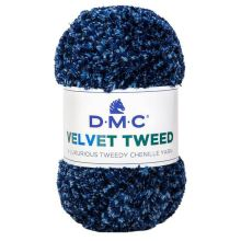 Příze VELVET TWEED 100g, modrý melír - odstín 251