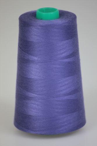 Niť KORALLI polyesterová 120, 5000, odtieň 4620, modrá