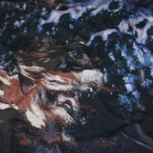 Úplet 16132, modrý vzor, š.150