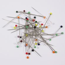 Špendlíky dlhé so sklenenou hlavičkou 0,76x50mm, 10g