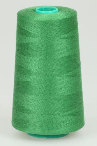 Niť KORALLI polyesterová 120, 5000Y, odtieň 6370, zelená