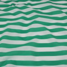 Tkanina zeleno-bílý pruh, š.150