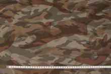 Koženka army, hnedá kamufláž, š.140