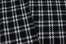Kabátovina modro-bílé káro š.150