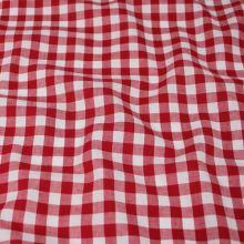 Kanafas červeno-bílý, š.145