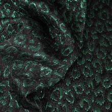 Kostýmovka čierna, zelený vzor š.120