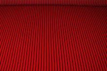 Šatovka červená, černý pruh š.150
