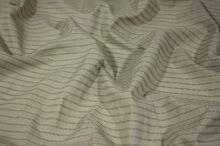 Košeľovina béžová s výšivkou, hnedý pruh, š.155