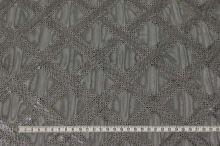 Tyl černý, stříbrný flitrový vzor, š.140