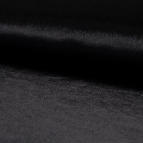 Samet DE LUXE černý, 260g/m, š.145