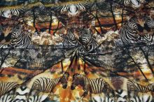 Úplet hnědožlutý 16129, zebry, š.155