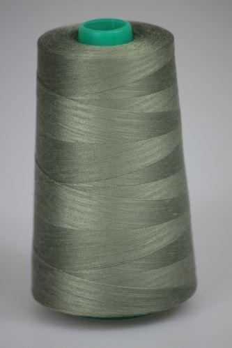 Nit KORALLI polyesterová 120, 5000Y, odstín 6730, šedá-zelená