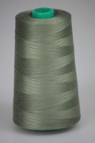 Niť KORALLI polyesterová 120, 5000Y, odtieň 6730, šedá-zelená