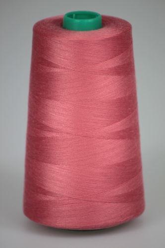 Niť KORALLI polyesterová 120, 5000Y, odtieň 3350, ružová