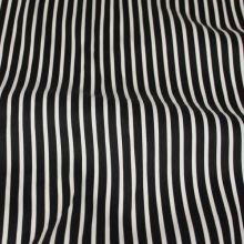 Bavlna pruhovaná, bílý a černý proužek, š.145
