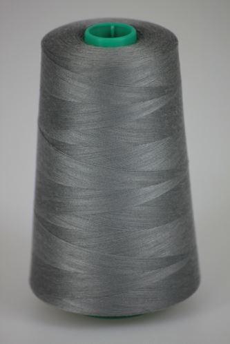 Niť KORALLI polyesterová 120, 5000Y, odtieň 9240, šedá