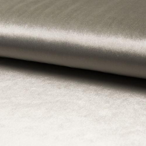 Samet DE LUXE světle šedý, 260g/m, š.145