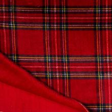 Coral fleece - wellsoft červený, barevné káro, š.145