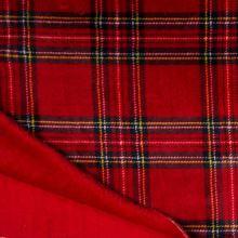 Coral fleece - wellsoft červený, farebné káro, š.145