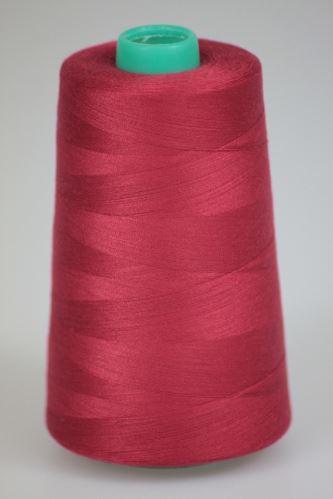 Nit KORALLI polyesterová 120, 5000Y, odstín 2575, červená-vínová