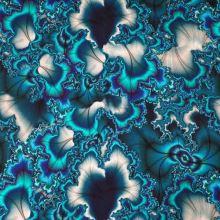 Úplet, zeleno-modrý abstraktný vzor, š.175