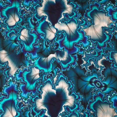 Úplet, zeleno-modrý abstraktní vzor, š.175