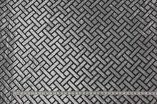Šifón čierny, sivý zamatový vzor, š.140