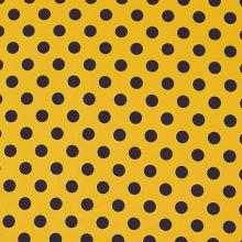 Úplet žltý, tmavo modré bodky, š.150