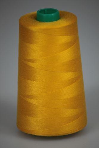 Niť KORALLI polyesterová 120, 5000Y, odtieň 2125, žltá