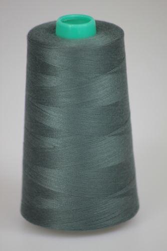 Niť KORALLI polyesterová 120, 5000Y, odtieň 5950, šedá-zelená
