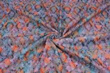 Kostýmovka žakár N3156, barevný květ š.140