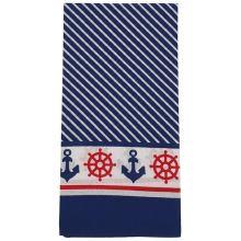 Dětský šátek modrobílý, námořnický vzor, 55x55cm