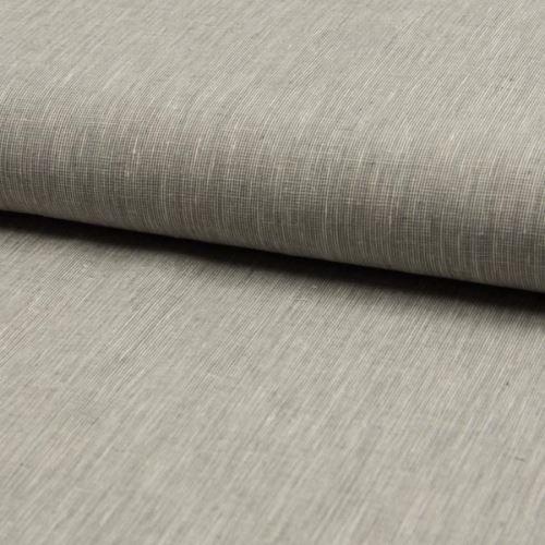Lněná kostýmovka, krémovo-šedá, š.135