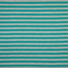 Úplet žebrový, zeleno-šedý proužek, 180g/m, š.145