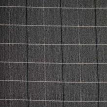 Kabátovina šedo-černé káro, š.150
