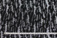Kostýmovka čierna, strieborný vzor, š.140