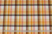 Košilovina vzorovaná, žluto-oranžové káro, š.150