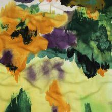 Úplet barevný, velké žluto-hnědé květy, š.145