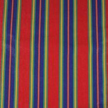 Lehátkovina červená, modrý pruh, š.45