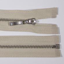 Zip kovový 4mm chrom délka 50cm, barva 307 (dělitelný)