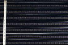 Košeľovina 10140 čierna, modrý pruh, š.150