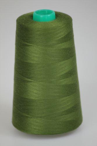 Niť KORALLI polyesterová 120, 5000Y, odtieň 6890, zelená