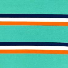 Úplet 21938, zeleno-oranžovo-modré pruhy, š.150